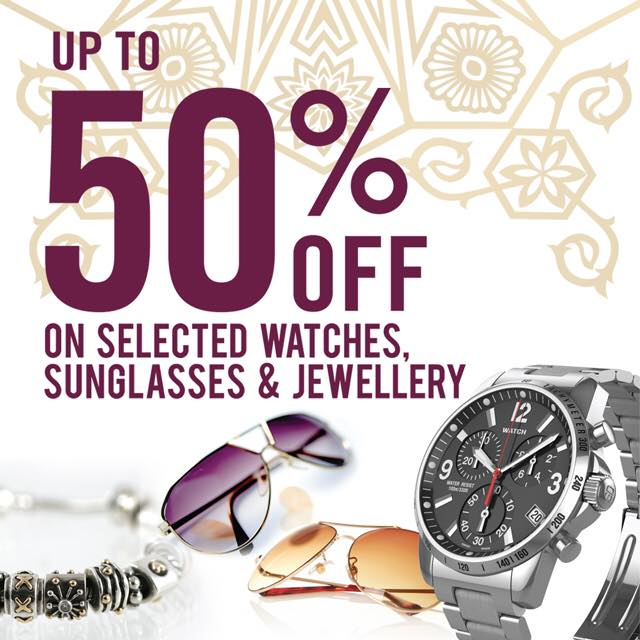 SALE: Up to 50% discount on select Watches, Sunglasses and Jewellery at Qatar Duty Free