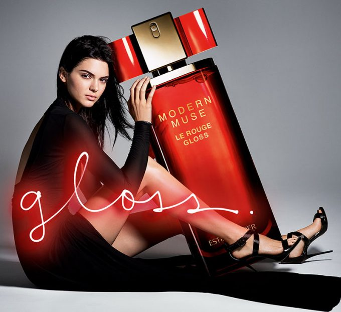 Kendall Jenner ups the glamour in new Estee adverts