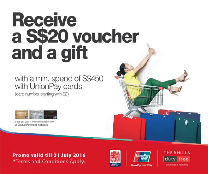 Shilla Duty Free & UnionPay offer discounts & gifts at Changi airport