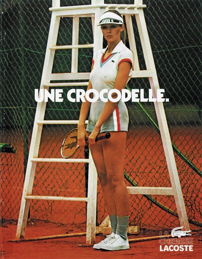 Crocodile or Crocodelle? Lacoste takes 70s ads into today's fashion