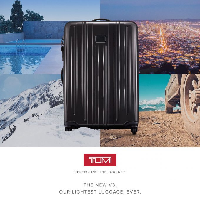 TUMI launches V3 – lightest-ever, hard-shell luggage collection