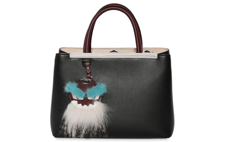 Fendi-Mini-2Jour-Leather-Bag-Fur-Charm