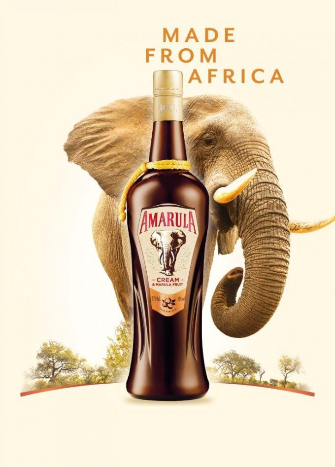 New Amarula bottle for duty-free celebrates Africa's gentle giants