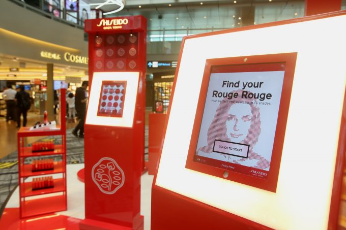 Shiseido marks global travel retail debut of Rouge Rouge at Singapore Changi Airport
