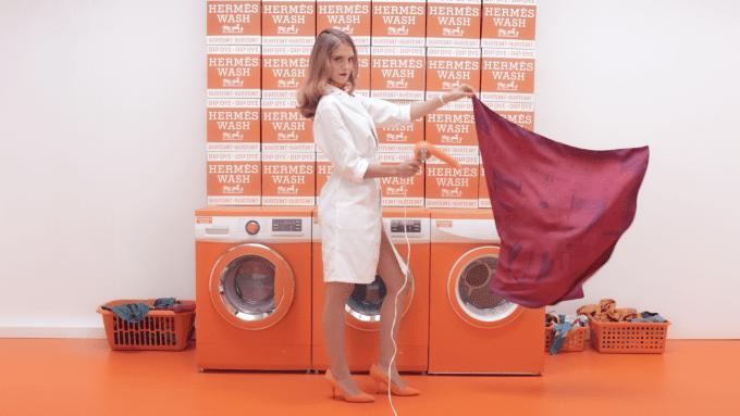 Hermès launches luxury laundromat for silk scarves
