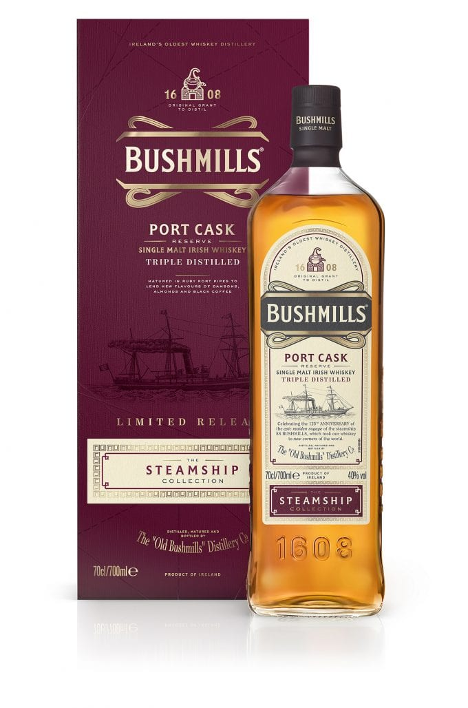 Bushmills launches new member of Steamship Collection whiskies – Port Cask Reserve