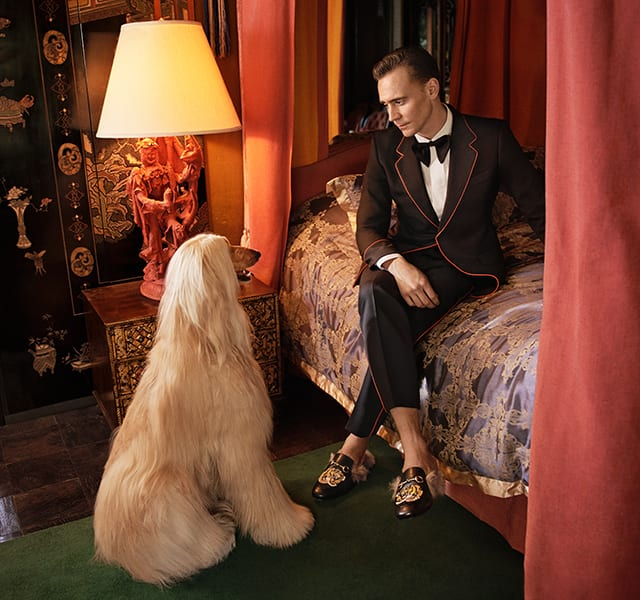 Tom Hiddleston plays the lead in new Gucci Tailoring campaign