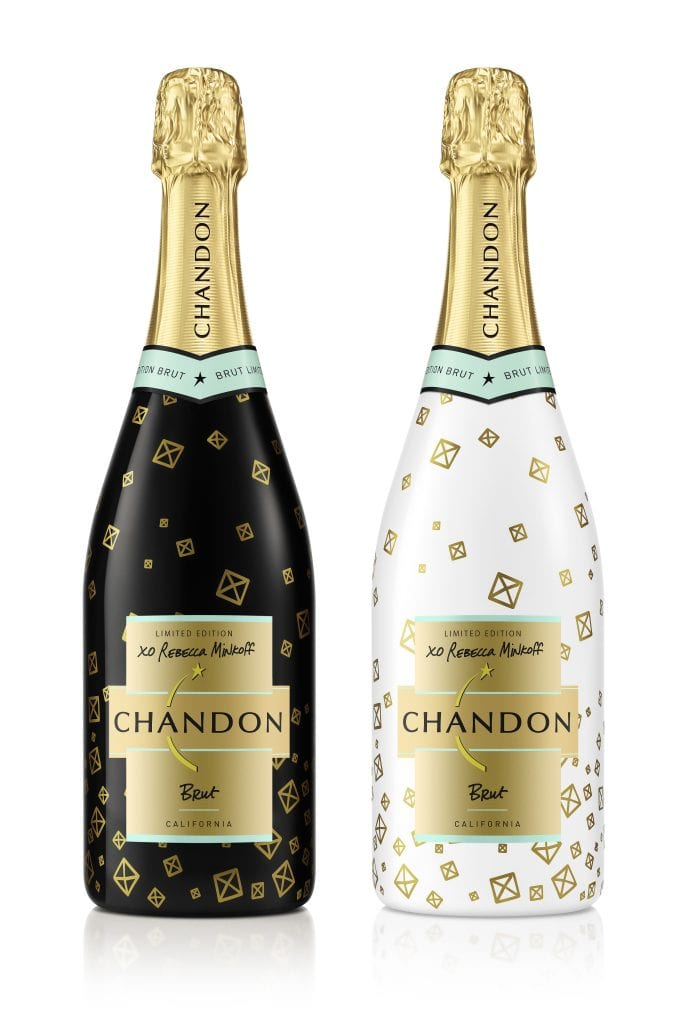 Chandon Bottles designed by Rebecca Minkoff.