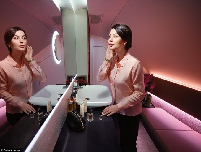 Armani style for Qatar Airways first class guests