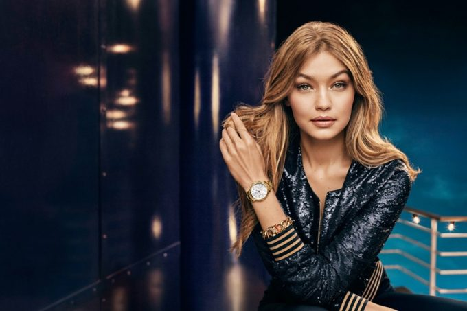 Gigi Hadid is party-ready in Tommy Hilfiger's Holiday Campaign