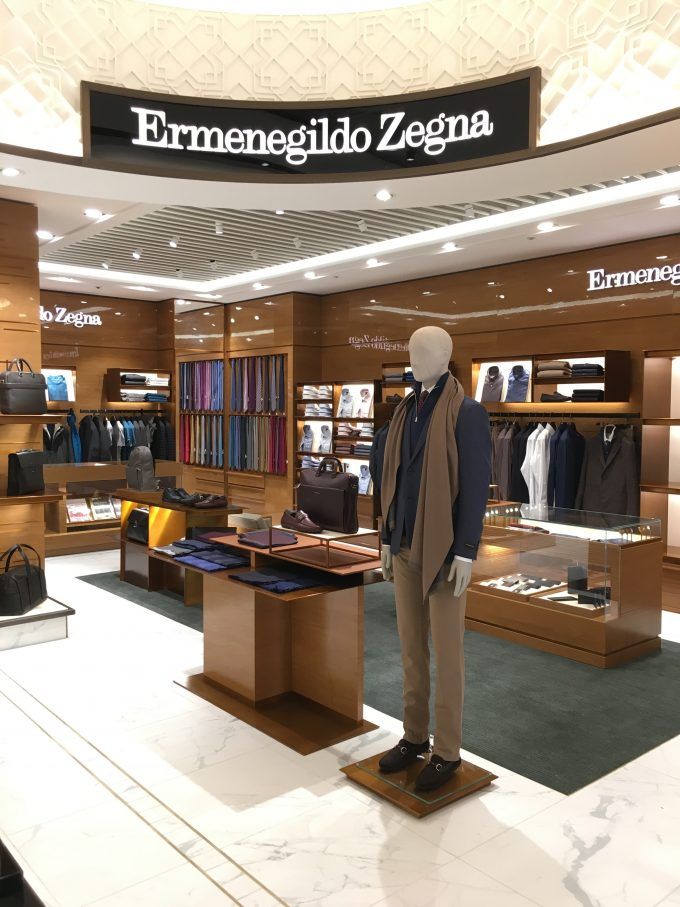 Ermenegildo Zegna arrives at London Heathrow T5