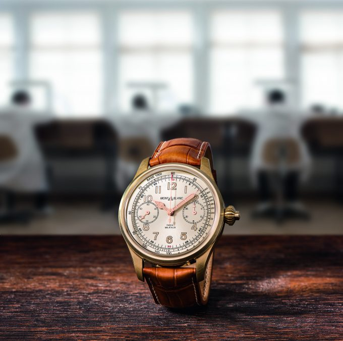 Vintage watchmaking at its finest: Montblanc introduces bronze into its 1858 Collection