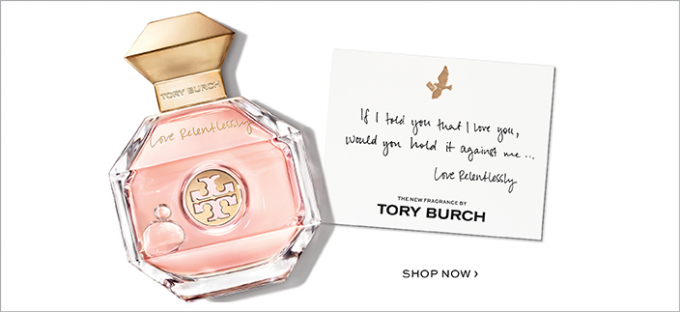 Tory Burch introduces Love Relentlessly, a new fragrance inspired by a love story