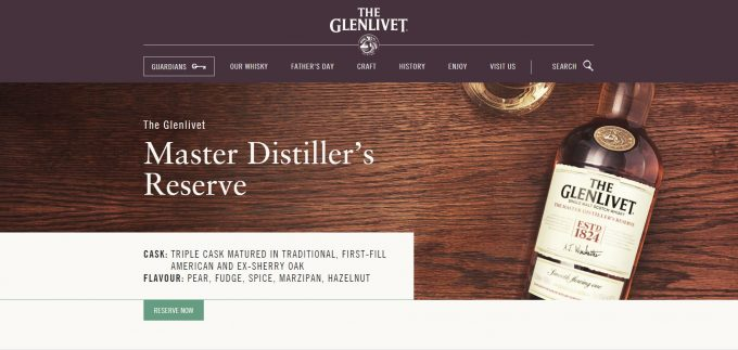 The Glenlivet introduces 'Reserve & Collect' service at 20 UK airports