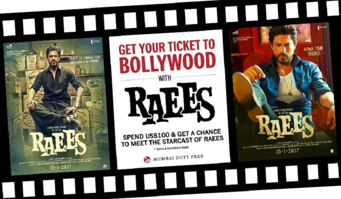 Mumbai Duty Free teams up with SRK for Raees blockbuster movie promotion
