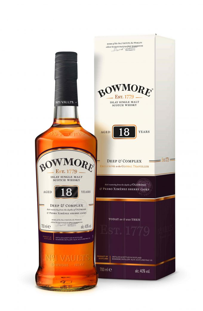 Bowmore unveils three duty-free exclusive malts – aged 10, 15 & 18 years