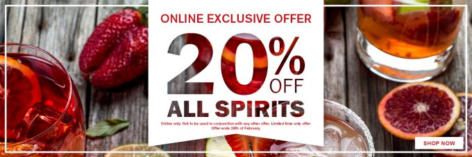 SAVE: 20% off all spirits at Aelia Duty Free at Auckland airport