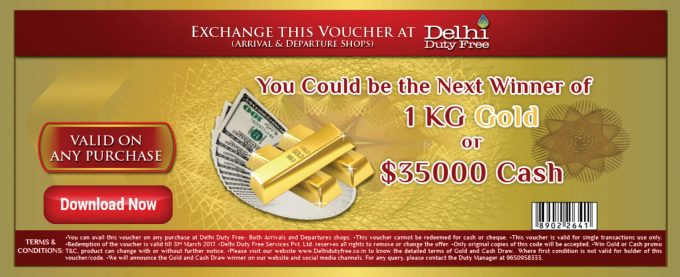 WIN: Delhi Duty Free offers Kilo of Gold prize to shoppers