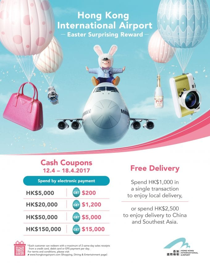 Easter treats & deals for travellers at Hong Kong HKIA