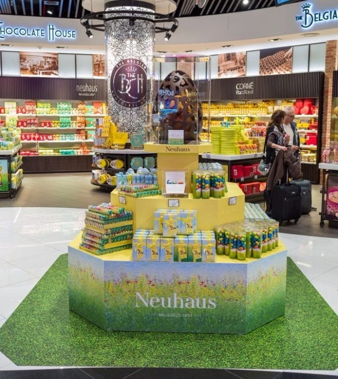 Neuhaus delivers Easter treats to Brussels & Amsterdam airports