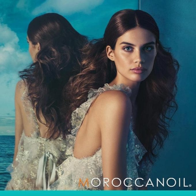Sara Sampaio's moment of beauty for Moroccanoil