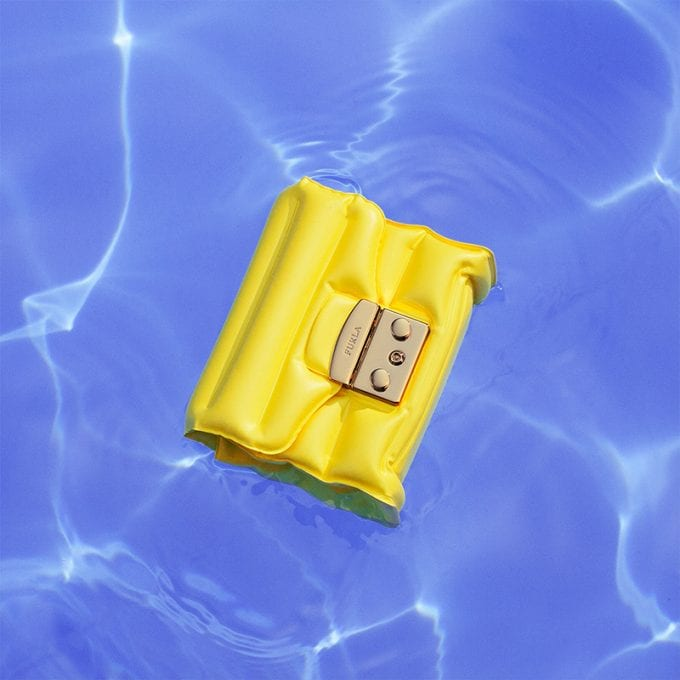 Furla breathes fun into summer with blow up handbags
