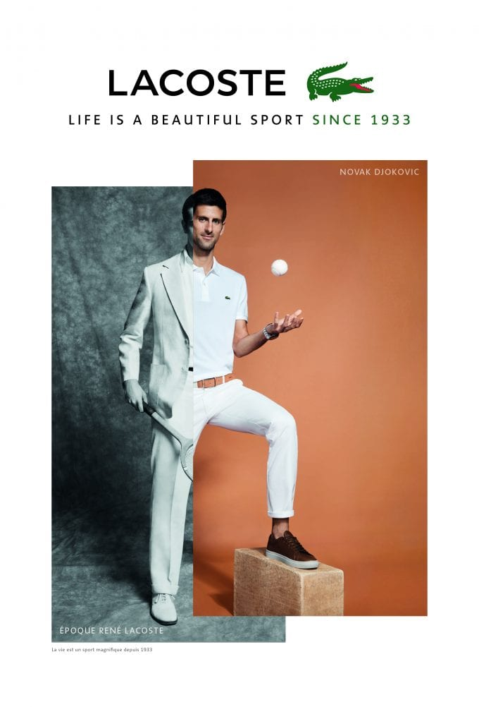 Snappy Dresser: Novak Djokovic is Lacoste's new Crocodile