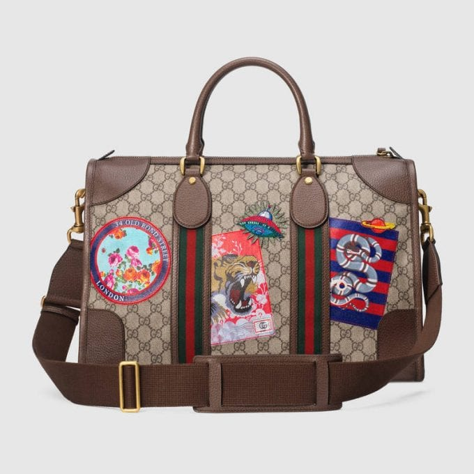 On our airport wishlist: The Gucci soft GG Supreme bag