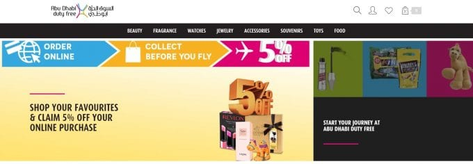 Abu Dhabi Duty Free adds new products and 10% off for online shoppers