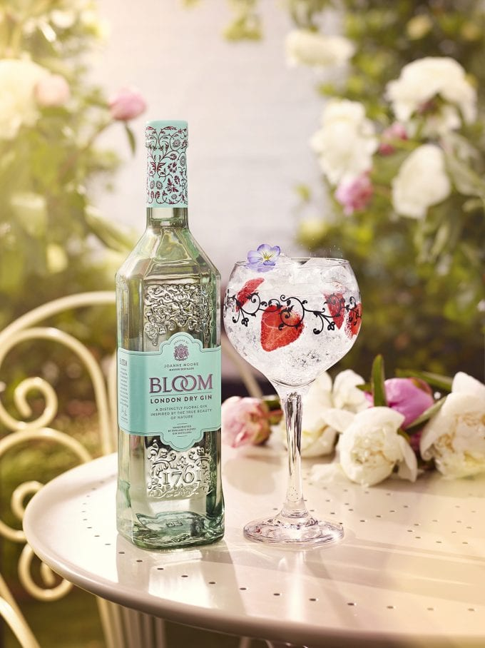 Bloom Gin flowers at London Gatwick duty-free