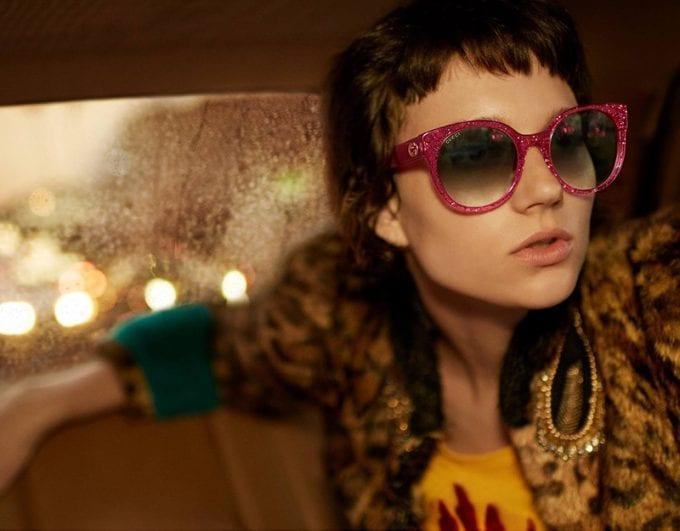 Ellen de Weer stars in Gucci Eyewear's spring-summer 2017 campaign