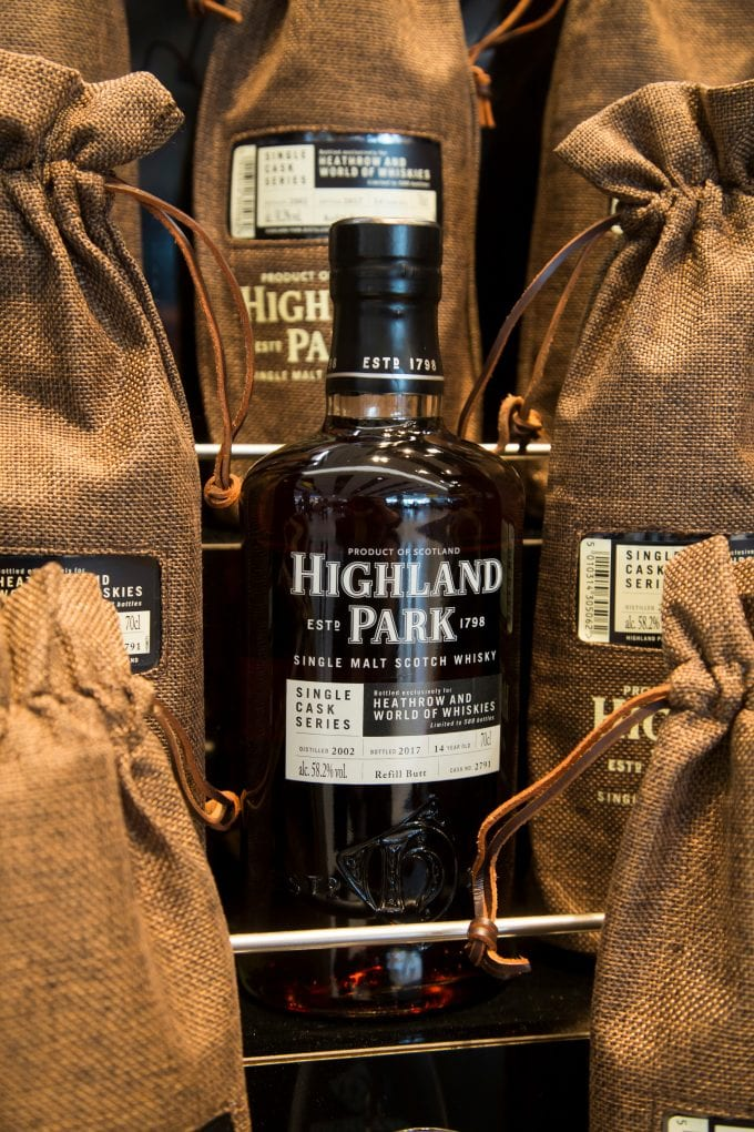 Heathrow T5 launch for Highland Park's very exclusive Single Cask whisky
