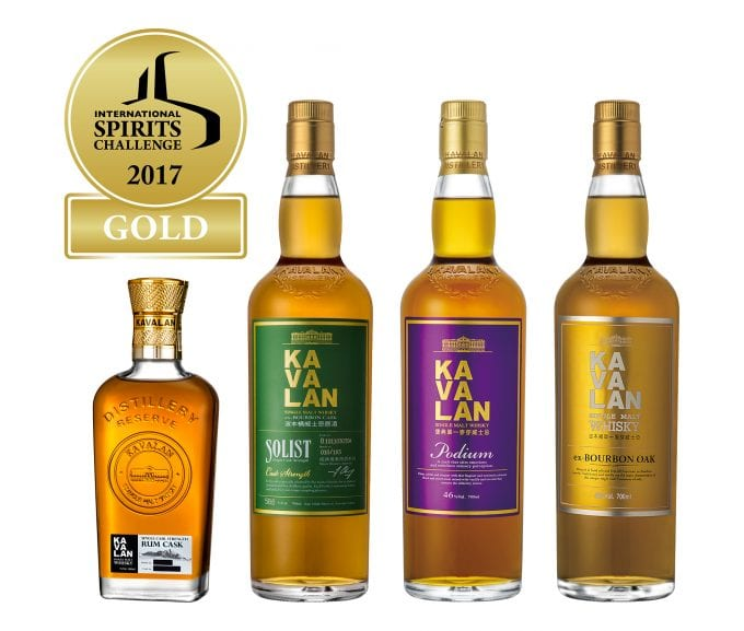 Kavalan takes Gold at 22nd International Spirits Challenge