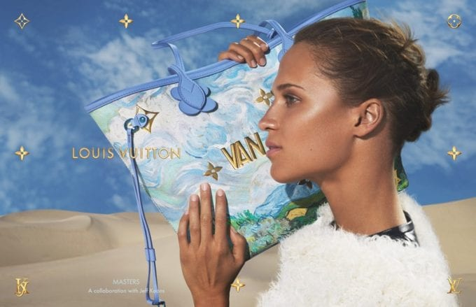 Alicia Vikander stars in Louis Vuitton x Jeff Koons Masters campaign
