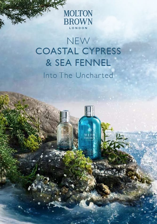 Molton Brown debuts costal fragrance collection