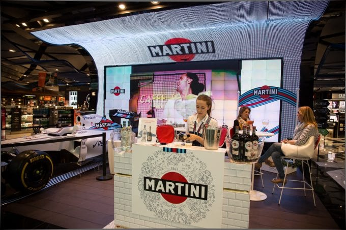 Martini 'Play with Time' event races into Barcelona airport Duty Free