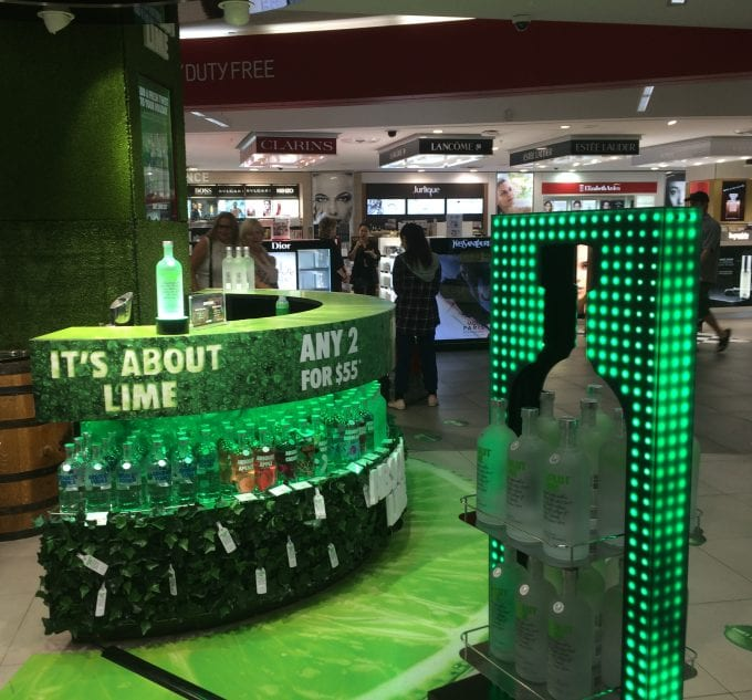 About Lime! Absolut mixes it up in Australian & NZ duty free