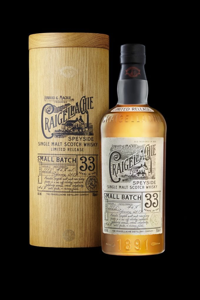 Rare Craigellachie 33yo malt set for World Duty Free launch