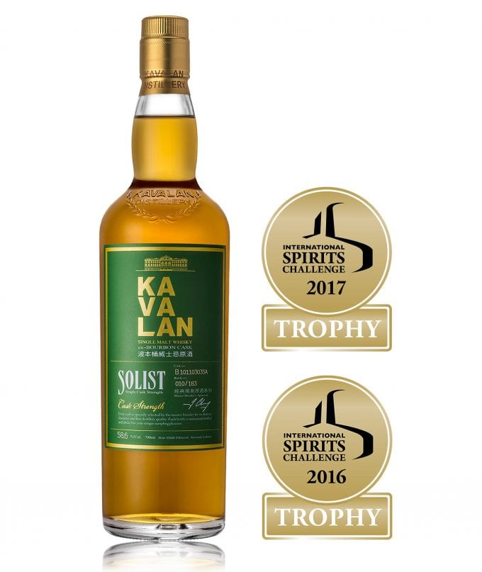 Kavalan Whisky wins International Spirits Challenge for 2nd year running