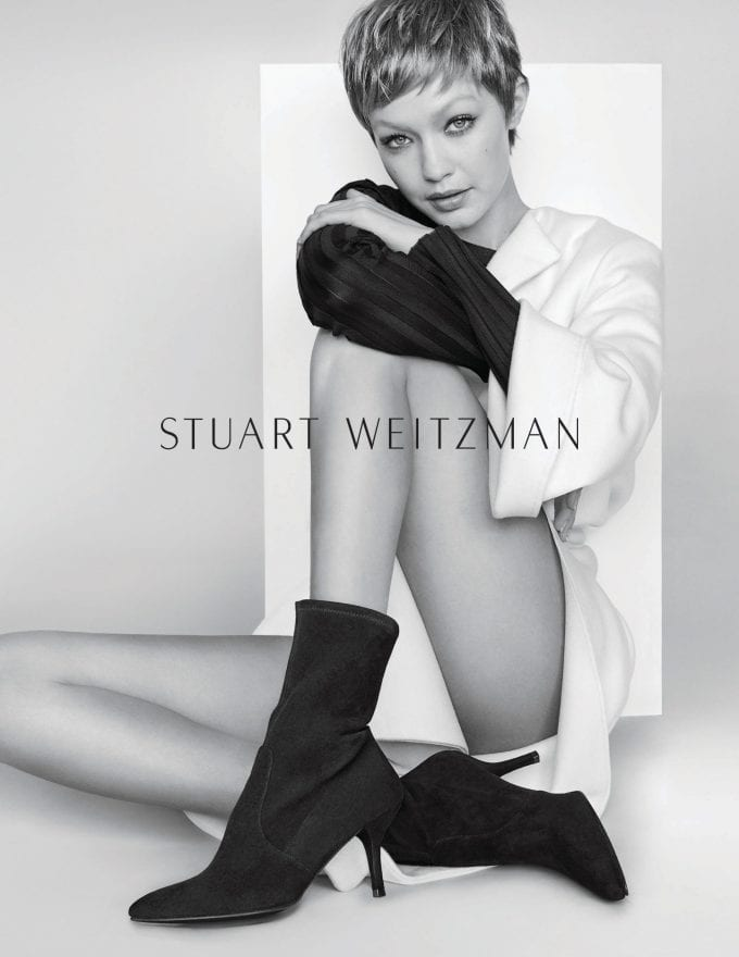 Gigi Hadid plays pixie in new Stuart Weitzman shoot