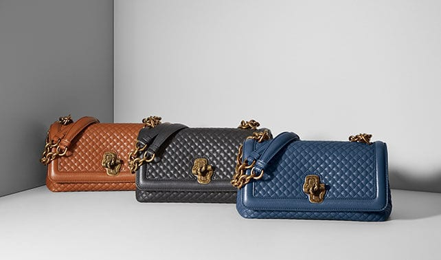 1306917c307c ... take on the coveted Olimpia bag is updated with a knot-shaped twist  lock. The soft calfskin has a delicate quilted texture that nods to Bottega  Veneta s ...