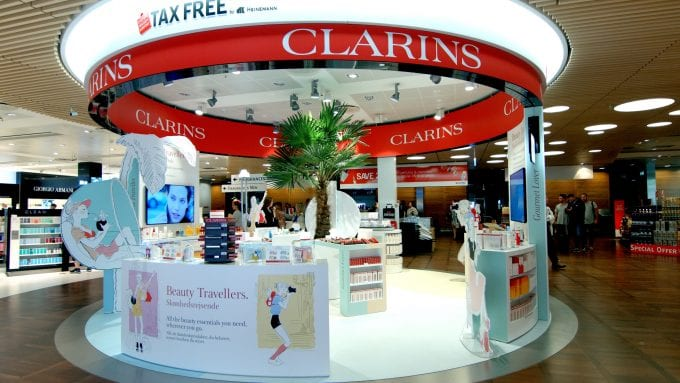 Clarins treats Beauty Travellers at Copenhagen Airport