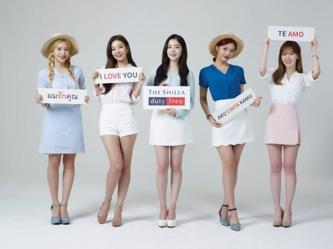 K-pop girl group Red Velvet signed by Shilla Duty Free