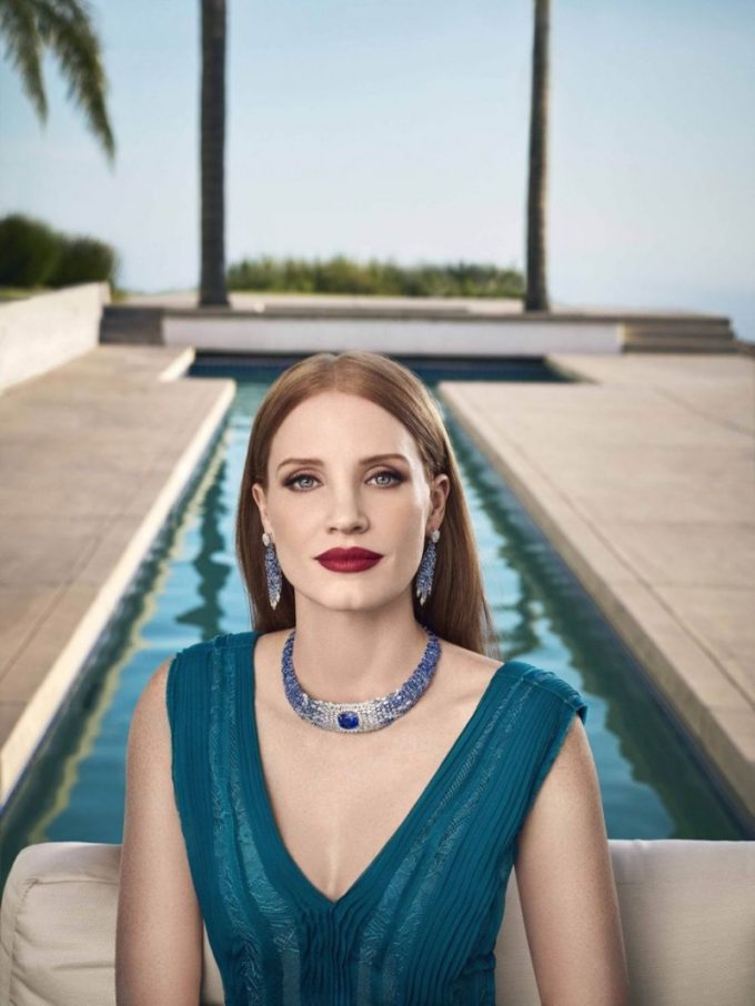 Jessica Chastain Dazzles in Piaget Jewellery