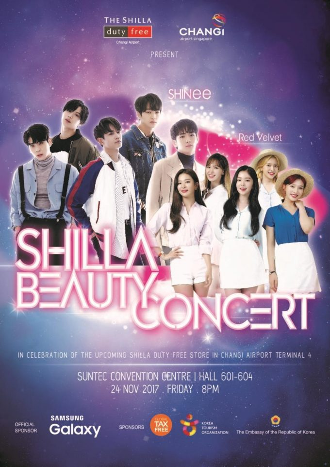 The Shilla Duty Free & Changi Airport to host SHINee & Red Velvet Exclusive Concert