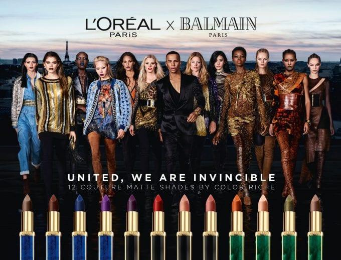 L'Oréal Paris exclusive makeup collaboration with Balmain launches at Paris Fashion Week