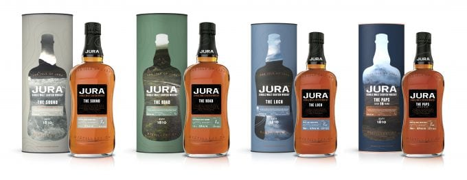 Jura unveils 4 new whiskies exclusively for duty-free shoppers