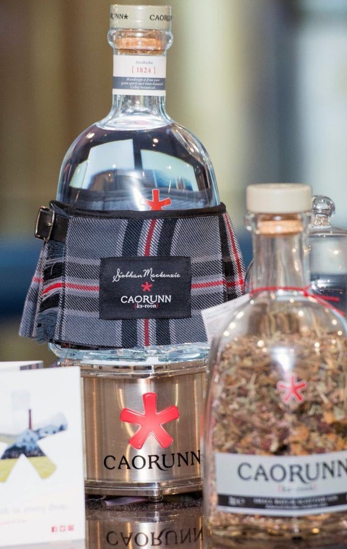 Caorunn gin teams with kilt designer Siobhan Mackenzie for duty-free special
