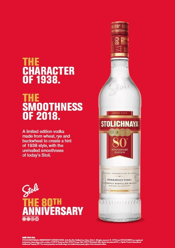 Stolichnaya celebrates 80th Anniversary with limited edition vodka