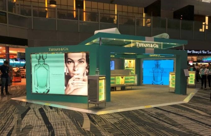 New Pics – New Tiffany fragrance on launch at Shilla Duty Free in Singapore Changi airport
